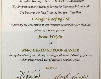 Heritage Roofing Certification